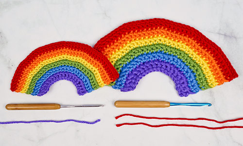 Happy Rainbows crochet pattern by PlanetJune