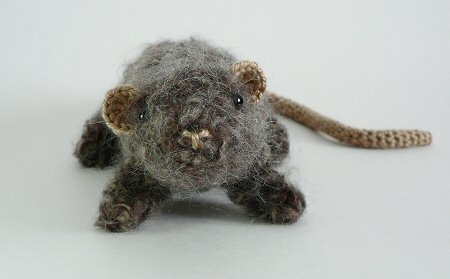 crocheted rat