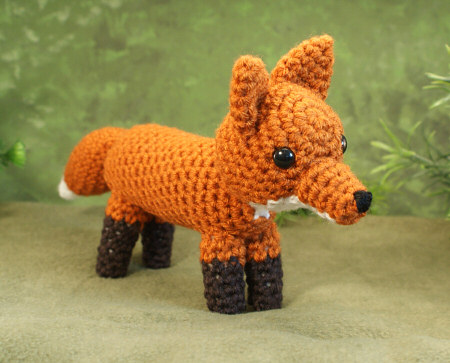 crocheted amigurumi red fox by planetjune