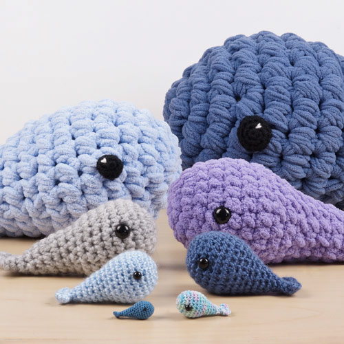 resizing amigurumi by scaling up and down, by planetjune
