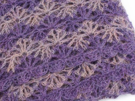 Rippled Lace Rectangular Shawl crochet pattern by June Gilbank