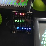 a clock that tells time with words