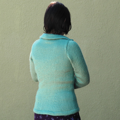 sage zipped cardigan
