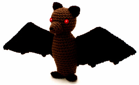 scary amigurumi bat by planetjune