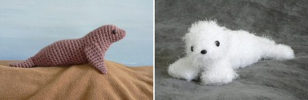 crocheted sea lion and seal pup patterns by planetjune