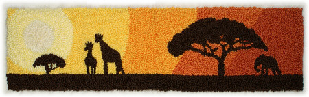 serengeti sunset punchneedle embroidery by planetjune