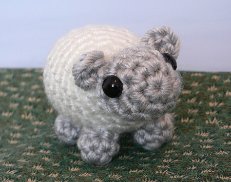 crocheted mini sheep by planetjune