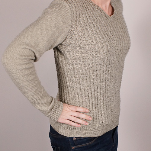 silver thermal pullover by June Gilbank