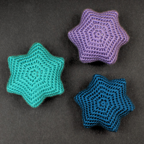 Snow Star Ornaments crochet pattern by PlanetJune