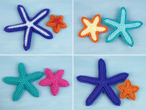 Starfish Collection crochet pattern by PlanetJune