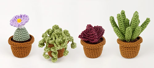 Succulent Collection 3 crochet pattern by PlanetJune