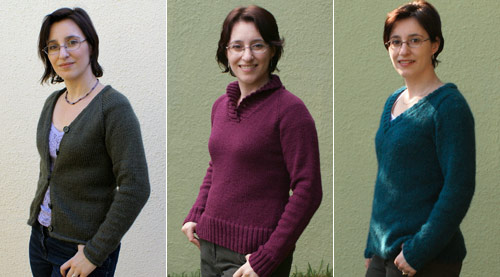 12 knit sweaters project: sweaters 1-3