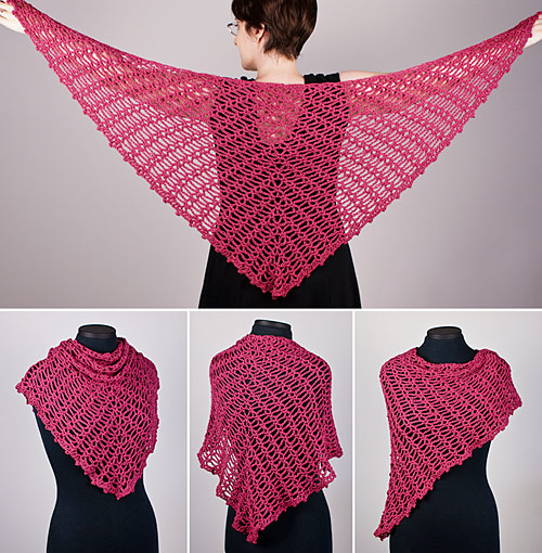 Sweetheart Lace Shawl crochet pattern by PlanetJune