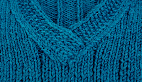 teal ribbed sweater