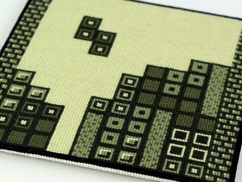 tetris cross stitch embroidery