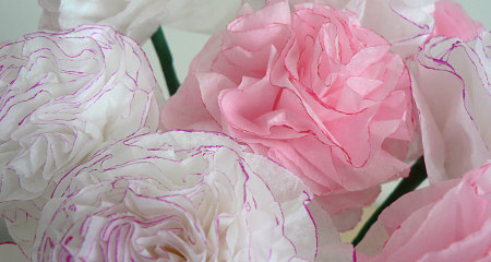 tissue paper carnations by planetjune