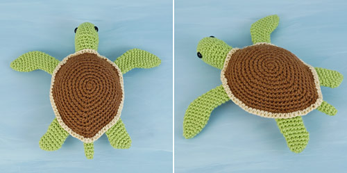 Simple-Shell Sea Turtle crochet pattern by PlanetJune