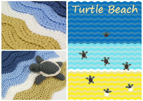ribbed ripple / turtle beach crochet pattern by planetjune
