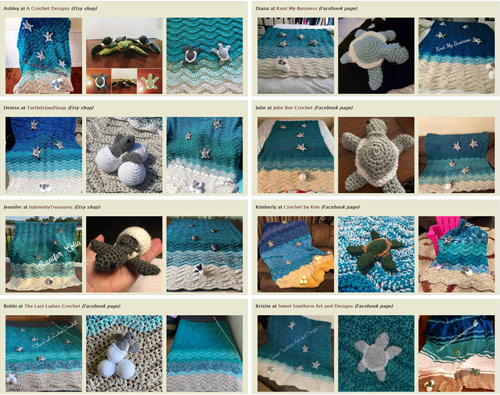 turtle beach crochet pattern (by planetjune) - blankets for sale by crocheters