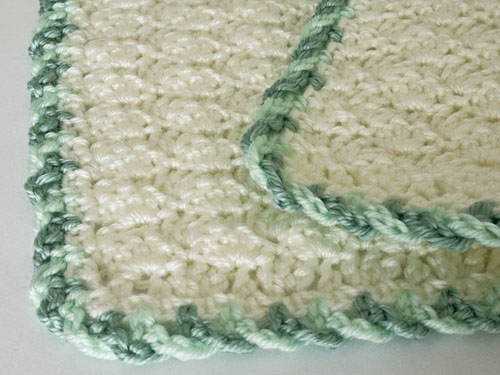 Twist-Trim Baby Blanket crochet pattern by PlanetJune