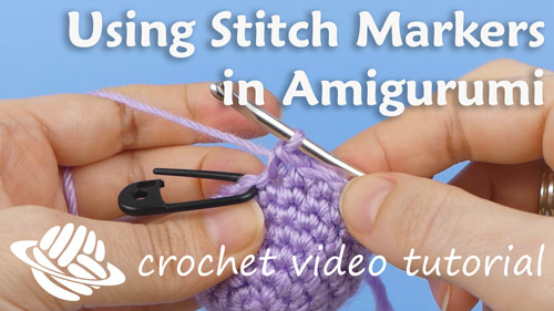 thumbnail image for the crochet video tutorial 'Using Stitch Markers in Amigurumi'