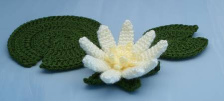 water lily crochet pattern by planetjune
