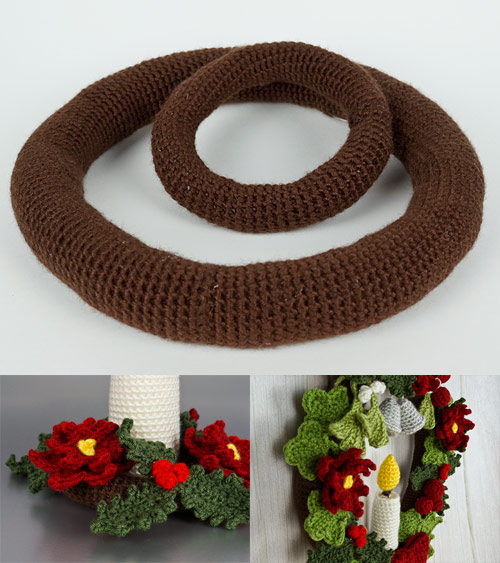 crocheted wreath base crochet pattern by planetjune