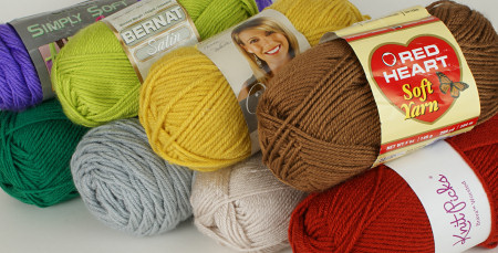 worsted weight acrylic yarns