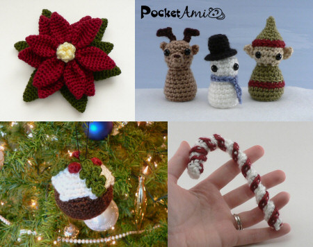 Christmas crochet patterns by planetjune