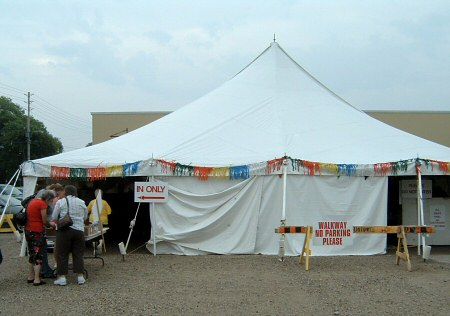 yarn factory outlet tent sale