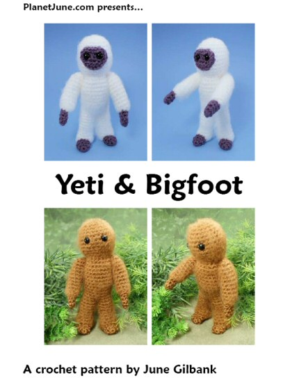 yeti & bigfoot crochet pattern by planetjune
