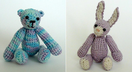 thread bear and bunny by planetjune
