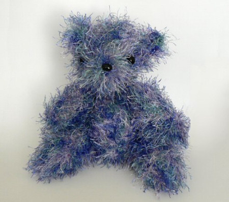 blue crocheted bear by planetjune
