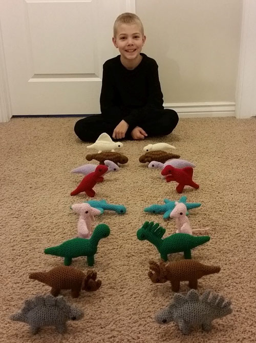 PlanetJune Stories: 10 year old Seth and his crocheted dinosaurs