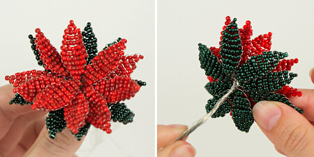 victorian beaded poinsettia tutorial by planetjune