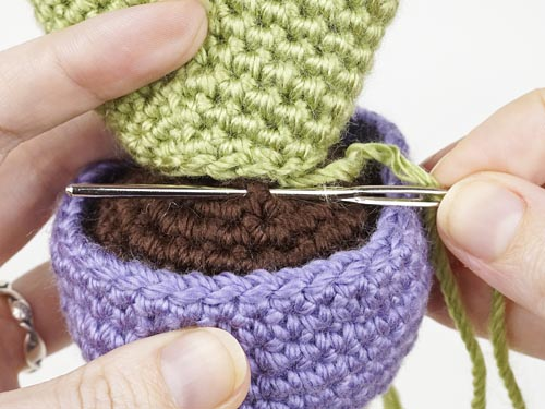 crochet tutorial photo showing my hands