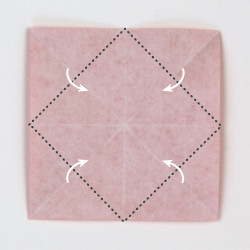 origami poinsettia instructions | Origami flowers, Fabric origami ... | 250x250