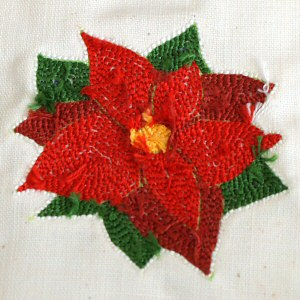 punchneedle poinsettia tutorial by planetjune