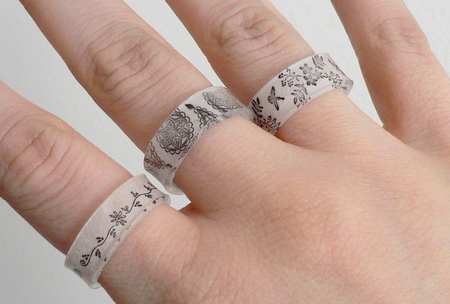 shrinky dinks rings by planetjune