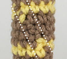 Tutorial: Crocheted Jogless Stripes | NeedleNoodles: Crochet ... | 200x225