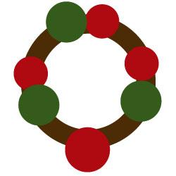 arranging a wreath - main components