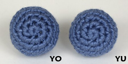yarn over vs yarn under