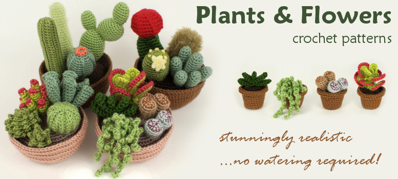 PlanetJune Plants & Flowers crochet patterns
