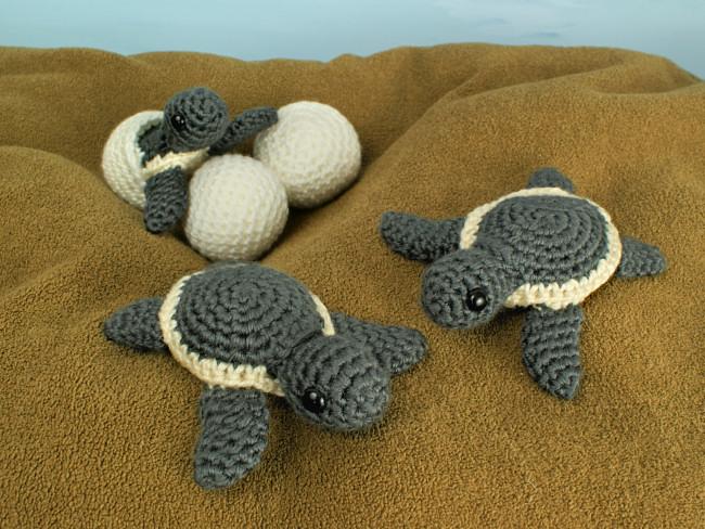 Baby Sea Turtle Collection: THREE amigurumi crochet ...