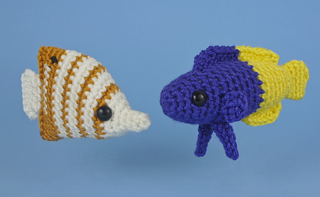 Tropical Fish Set 3: TWO amigurumi fish crochet patterns ...