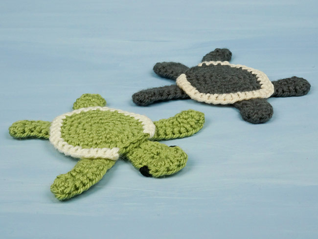 Baby Sea Turtle Applique crochet pattern - Click Image to Close