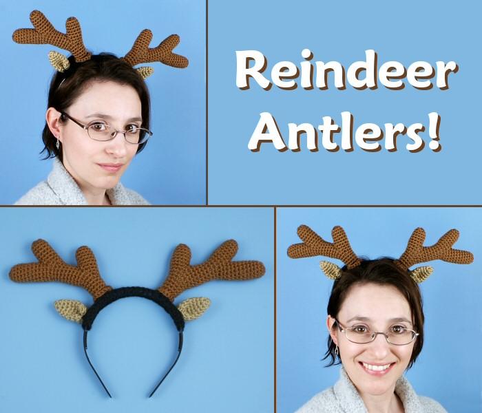 Reindeer Antlers crochet pattern (headband costume)   PlanetJune ... f03721a5580