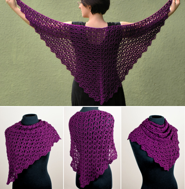 Cascading Clusters Shawl Crochet Pattern Planetjune Shop Cute And