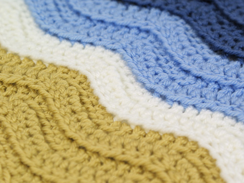 Ribbed Rippleturtle Beach Blanket Donationware Crochet Pattern