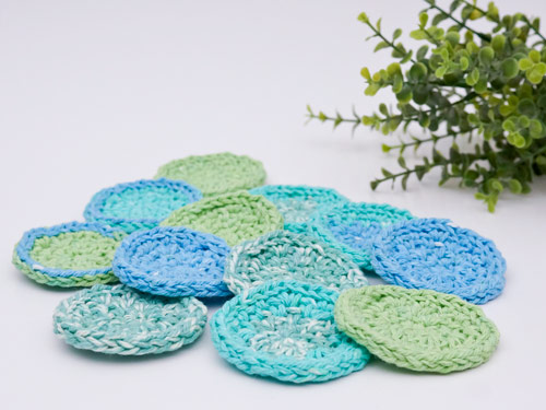Eco-Friendly Cosmetic Rounds DONATIONWARE crochet pattern - Click Image to Close